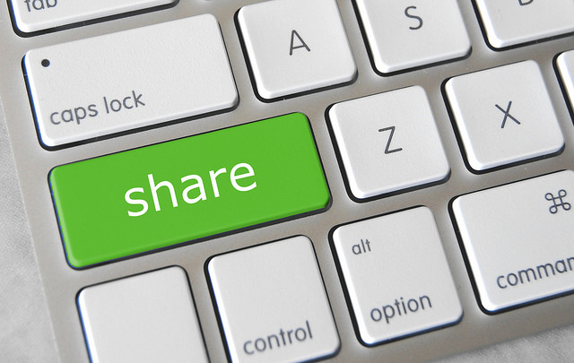 share button keyboard