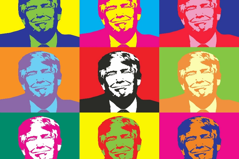 Donald Trump Andy Warhol style