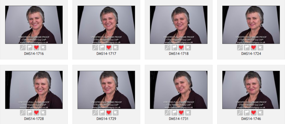 Choosing a head shot is a time consuming process