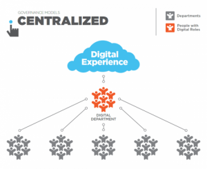governance models, centralized digital business structure model