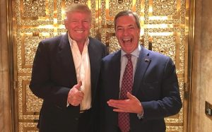 trump and farage post election day