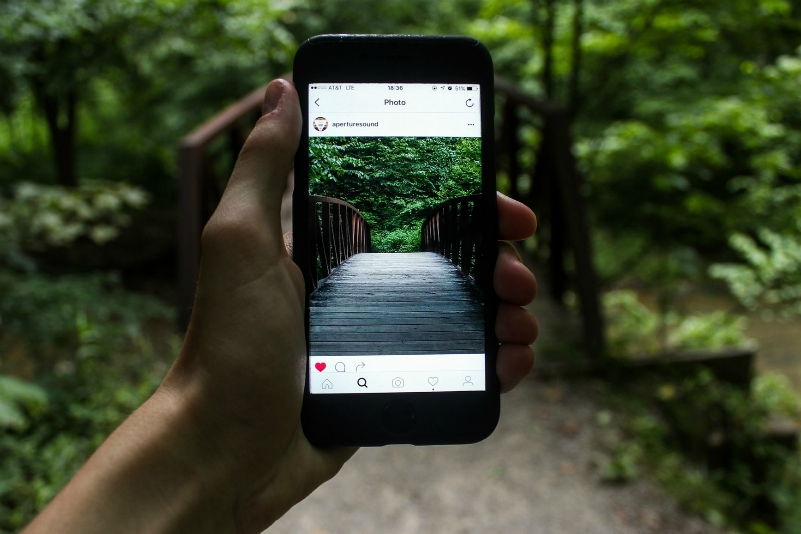 Digital Marketing: Smartphone Instagram photo