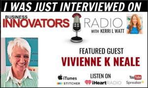Vivienne K Neale is interviewed on Business Innovators