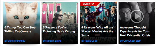 Do you have to be cracked to like Listicles?