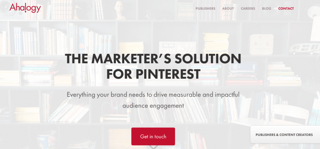 Ahalogy's USP is helping improve brand's Pinterest content not just measure its performance.